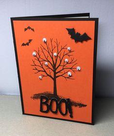 Halloween Pop Up Cards, Halloween Greetings, Cricut Halloween Cards, Halloween Paper Crafts, Halloween Eyeballs, Soirée Halloween, Holiday Cards, Christmas Cards, Handmade Thanksgiving Cards