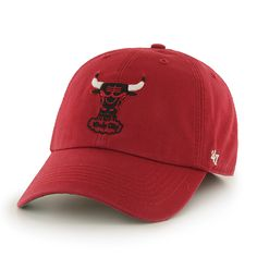 Chicago Bulls 47 Brand The Franchise Red Fitted Hat Cap