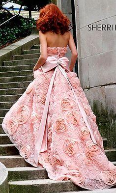 pink wedding dress - YES!!