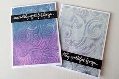 By Dina Kowal. Splitcoaststampers - Watercolor Imprints - with Distress Oxide Inks.
