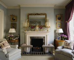A proper and pretty British living room