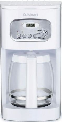 12-Cup Programmable White Coffee Maker Charcoal Water Filter Kitchen Appliance #coffeemaker