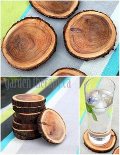 Woodworking Design Crafts Recycling tree branches into coasters - this is an easy DIY that would make a great handmade gift.Woodworking Design Crafts Recycling tree branches into coasters - this is an easy DIY that would make a great handmade gift. Diy Projects To Try, Home Projects, Craft Projects, Recycling Projects, Sewing Projects, Small Wood Projects, Craft Tutorials, Home Crafts, Fun Crafts