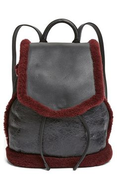 rag & bone 'Pilot' Genuine Shearling & Leather Backpack available at #Nordstrom
