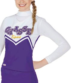 Double Knit M-Style Cheer Uniform Top by Chassé, part of the Chassé Sport Collection - 8 popular colors available