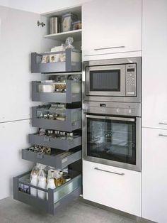 Хранение на кухне – задача не из лёгких: расположить огромное количество нужных вещей необходимо так, чтоб это было и удобно, и красиво. Мы собрали для вас 19 удачных примеров систем хранения на кухне...
