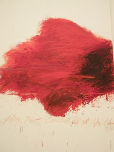 - Cy Twombly, The Fire That Consumes All Before It