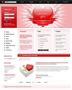 Valentine's Day Joomla Templates by Delta
