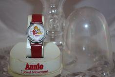 1980s Little Orphan Annie Watch 7 Jewel Red by HaveNotVintageANNex, $7.00