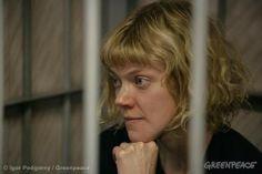 Sini Saarela, At The Leninsky District Court Of Murmansk. 09/26/2013 © Igor Podgorny / Greenpeace