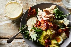 """"""" the Cobb salad says to the ranch dressing. Ranch dressing with miso recipe Ranch Dressing Recipe, Salad Dressing Recipes, Salad Recipes, Salad Dressings, Miso Dressing, Yummy Recipes, Dinner Recipes, Yummy Food, Salad Sauce"""