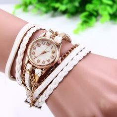 SHARE & Get it FREE | Women Vintage Weave Wrap Leather Bracelet Wrist WatchFor Fashion Lovers only:80,000+ Items • New Arrivals Daily • Affordable Casual to Chic for Every Occasion Join Sammydress: Get YOUR $50 NOW!