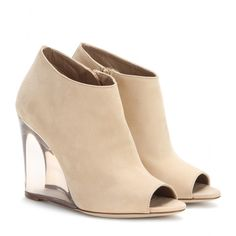 mytheresa.com - Kesto open-toe suede ankle boots - High-heel - Ankle boots - Shoes - Burberry Prorsum - Luxury Fashion for Women / Designer clothing, shoes, bags