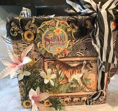 Graphic 45 Safari Adventure Large Scrapbook Photo Album    eBay