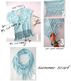 DIY infinity scarf from old T-shirt