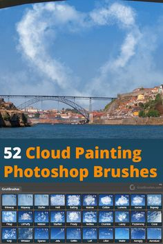 52 Dynamic, pressure responsive Photoshop brushes that allow you to paint and create all kinds of cl. Photoshop Plugins, Photoshop Brushes, Photoshop Tutorial, Photoshop Actions, Photoshop For Photographers, Photoshop Photography, Digital Painting Tutorials, Digital Paintings, Photoshop Cloud
