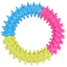 Yani DCT-5 Dog\'s Squishy Thorn Ring Chew Toy Rubber Multicolor Circle Dental Healthy Training Toys