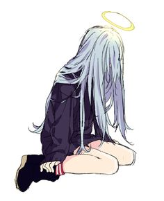 Imagem de anime, angel, and manga Sad Anime Girl, Anime Art Girl, Anime Girls, Sad Girl Art, Anime Girl Crying, Anime Triste, Anime Pokemon, Estilo Anime, Manga Drawing