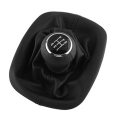 NEW Super 5 Speed Gear Shift Knob Gaitor Boot Leather Black For VW For PASSAT B5 For Volkswagen Bora Car…