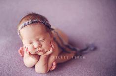 the Pixie  Newborn Headband  Lavender  Newborn by babyjoystudios, $17.96