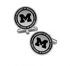 College Jewelry University of California Irvine Anteaters Cufflinks Natural Finish Sterling Silver Round Top Cufflinks