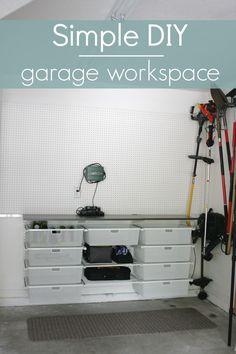Simply Organized: Garage Workspace