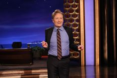 Conan Treats The Crowd To A String Dance