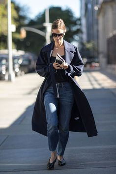 A Duster, Solid Shirt, and Flats Equal a Winning Combo You Can Pull Together…