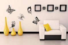 modern ideas for wall decorating, stencil designs