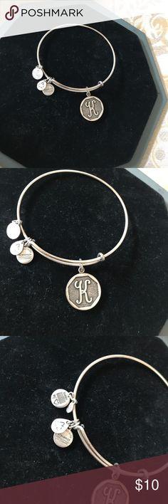 "Brand new ""K"" Alex and Ani bracelet Beautiful alex and Ani bracelet never worn and perfect if your name begins with a ""K"" like me !! Alex & Ani Jewelry Bracelets"