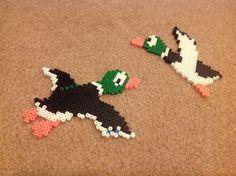Conjunto de 2 patos de Duck Hunt Perler cuentas Sprite