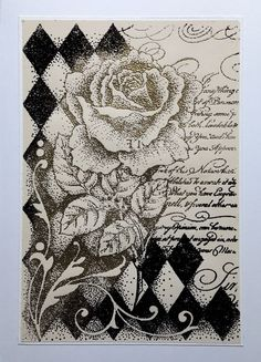 Hello  Romance is the word for this month. What a wonderful word and a beautiful set of Harlequin Rose  Chocolate Baroque stamps.  My first ...