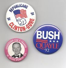 1992 Presidential Campaign Buttons.