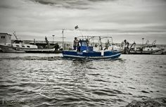 El Retoret - Selective cutout on a fisherman and his boat. Boat, Dinghy, Boats, Ship