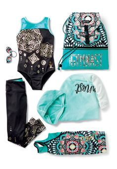 Metalic graphics and bright, global prints perfect for the gym and every adventu… - Leotards Cute Girl Outfits, Sporty Outfits, Dance Outfits, Kids Outfits, Cool Outfits, Summer Outfits, Fashion Outfits, Gymnastics Wear, Gymnastics Outfits