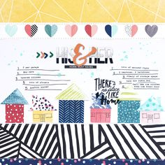 Jamie Leija for American Crafts: Home Must Haves #americancrafts #scrapbook #scrapbooklayout