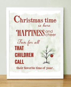 charlie brown christmas time is here art print 8x10 by uupp 2000 christmas time is - Christmas Time Is Here Song