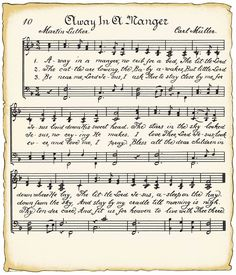 Let kids draw over it..use a template for an angel, etc.  Free download - Vintage Christmas music - great for crafts?