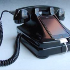 Vintage gadget iphone retro telephone  (gadgets, ideas, inventions, cool, fun, amazing, new, interesting, product, design, clever, practical, useful, tech, technology, electronic, gizmo, brilliant, genius)