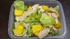 Chicken and mango salad is such a staple on the Cohen Diet but just because it is a no-brainer. Really how difficult is it to add lettuc. Cohen Diet Recipes, Mango Salad, Oui Oui, 2 Ingredients, Mustard, Healthy Recipes, Meals, Chicken, Dinner