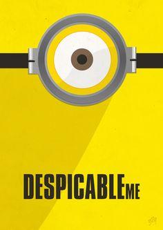Minimalist Despicable Me minion poster