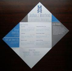 Joshua J. Moorhead: Print Resume by Joshua Moorhead, via Behance