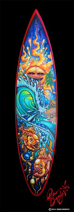 Drew Brophy store for Surf and Ocean Art, Sacred Geometry Fine Art Surfboard Painting, Surfboard Art, Skateboard Art, Posca Art, Surf Art, Ocean Art, Art Boards, Penny Boards, T Rex