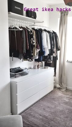 new walk in closet! - Pinies - - My new walk in closet! Source by elenatischnerMy new walk in closet! - Pinies - - My new walk in closet! Source by elenatischner A tidy home – A guide to organising wardrobes - IKEA Miss Boy. 3 Beds In One Ikea Walk In Closet Ikea, Closet Walk-in, Ikea Closet Hack, Closet Hacks, Closet Bedroom, Closet Organization, Bedroom Decor, Closet Ideas, Ikea Bedroom