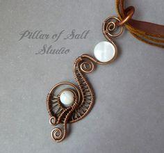 Wire Wrapped Pendant / wire wrapped jewelry by PillarOfSaltStudio, $32.00