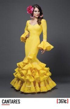 Aires de feria, Trajes de flamenca 2015 Flamenco Costume, Flamenco Dancers, Spanish Dress Flamenco, Flamenco Dresses, Mellow Yellow, Yellow Dress, African Fashion, Dress To Impress, New Dress