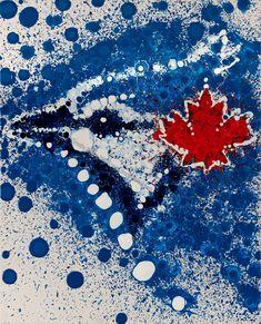 Toronto Blue Jays Abstract Art