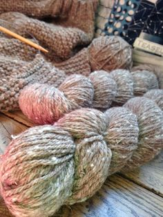 50% Natural brown alpaca, 25% Targhee, and 25% Merino wools have been blended together to create one amazing worsted weight yarn. It is truly everything that is cozy, soft, and spirit lifting (which i