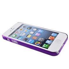 Plastic Bumper Frame Case for iPhone 5 (Purple) $1.00