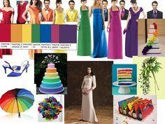 #rainbow #wedding #ideas